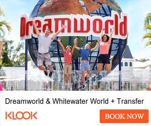 klook.com - 300×250 – Dreamworld & Whitewater World + Transfer