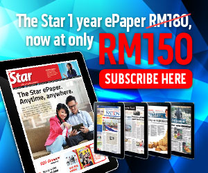 1 year The Star ePaper is selling at RM150 or 17% discount compared to the normal retail price RM180!