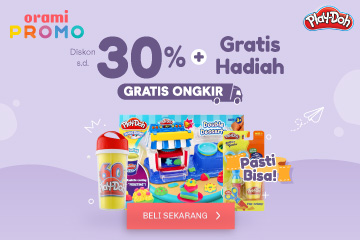 orami.co.id - Play-doh disc sampai 30% + free gift