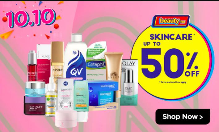 watsons.com.my - Kaw Kaw Beauty Fair: Skincare Up to 50% OFF