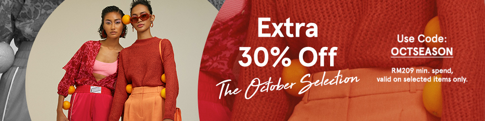 zalora.com.my - Extra 30% OFF The October Selection