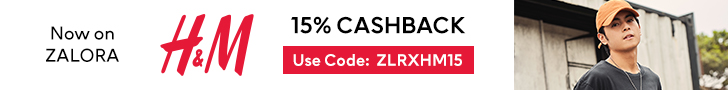 15% Cashback on H&M Collection at Zalora PH