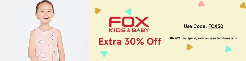 zalora.com.my - FOX Kids: Extra 30% OFF