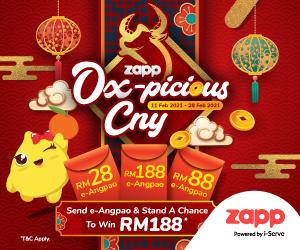 - Send Angpao and Win RM188