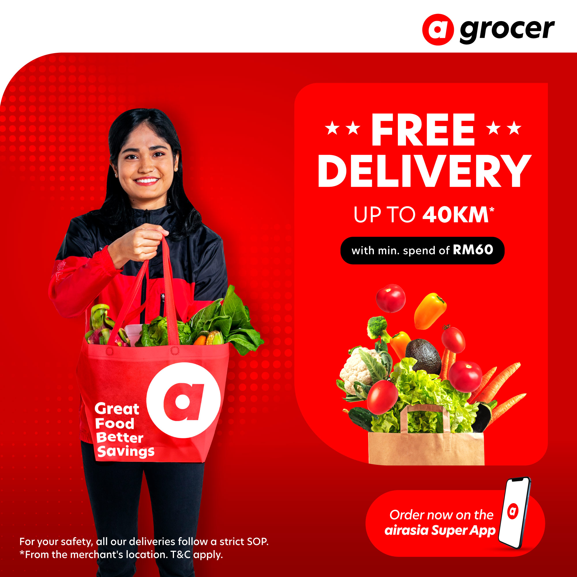 Airasia Grocer Free Delivery Up to 40KM