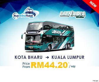 Lienadia Express Provides Bus from Kota Bharu to Kuala Lumpur