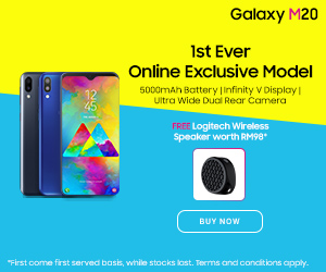 samsung.com - 1st Ever Online Exclusive Model: Galaxy M20 + FREE Logitech Wireless Speaker