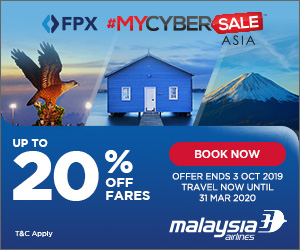 MYCyberSale Asia - Malaysia Airlines Golden Offer In 2019
