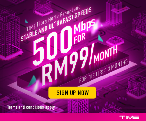 TIME Internet 500Mbps for RM99/month