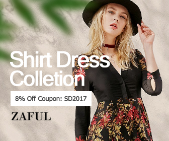 zaful.com - 336×280 – Shirt Dress Collection – Up to 80% OFF!