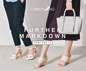Christy Ng ada MARK DOWN SALE! Bolehlah beli kasut kahwin