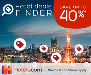 hotels.com - 300×250 – Deals Hub Save Up To 40%