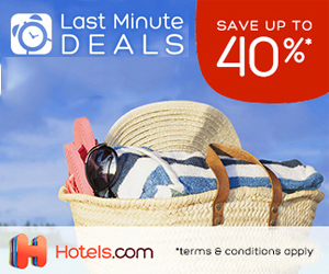 hotels.com - 300×250 – Last Minute Deals Save Up To 40%