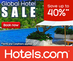 hotels.com - 300×250 – Global Hotel Sale Up to 40% Off